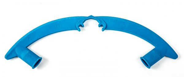 Blue hammerhead bumper kit against a white background.