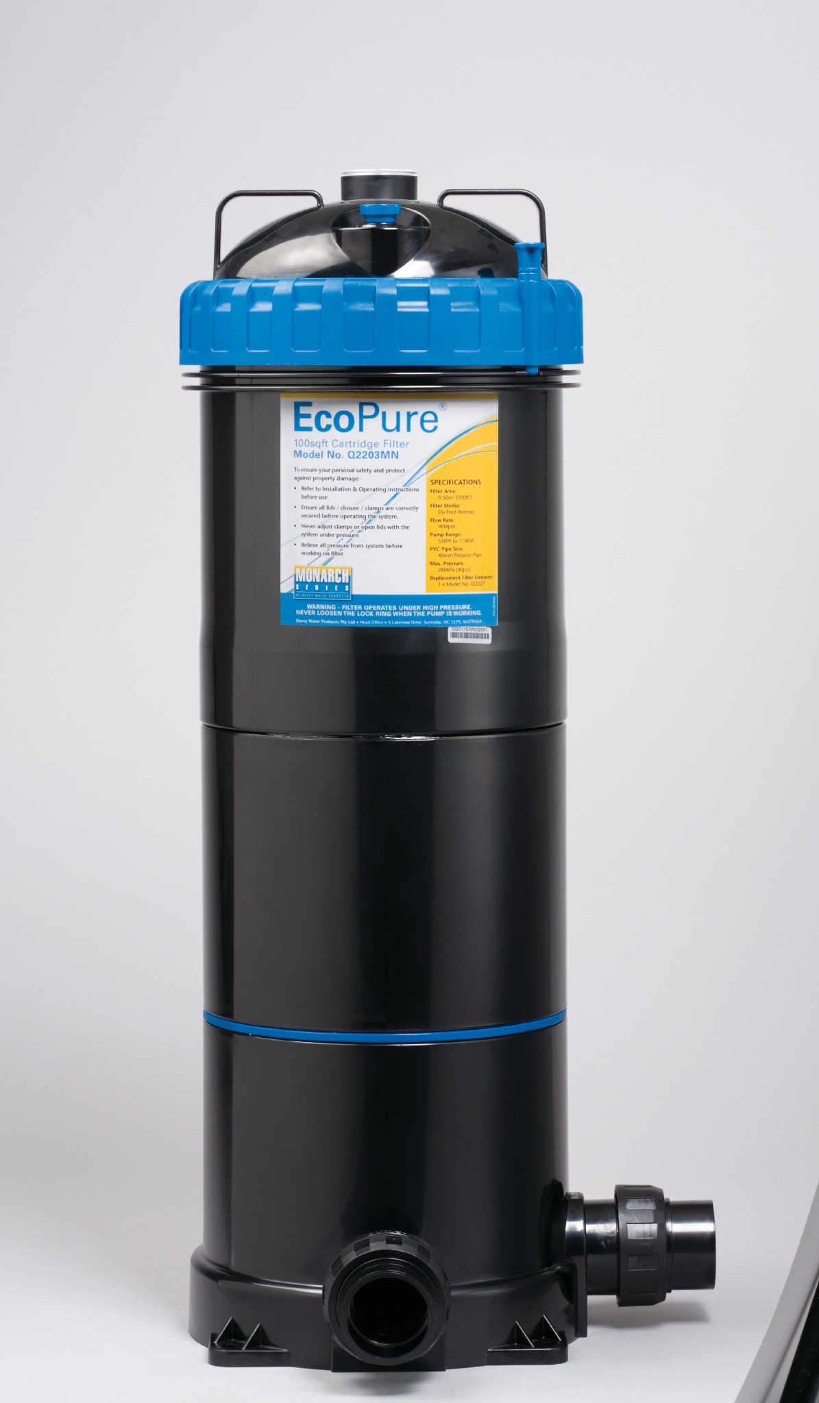 Davey ecopure cartridge filter 100 best price pool equipment How to clean swimming pool filter cartridge