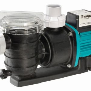 Black Onga pool pump against a white background.