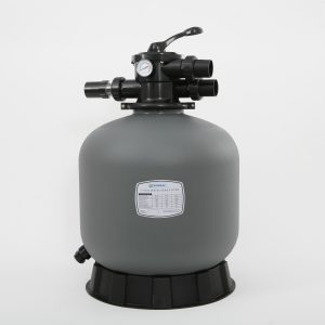Gray Zodiac Titan fibreglass sand filter.