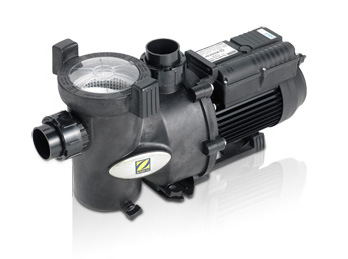 Black Davey PM eco 3 speed pool pump against a white background.