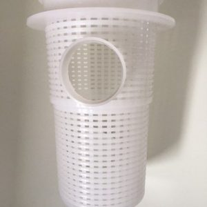 Pump basket against a white background.