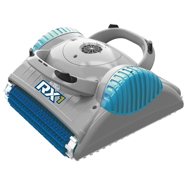 K-Bot RX 1 robotic pool cleaner against a white background.