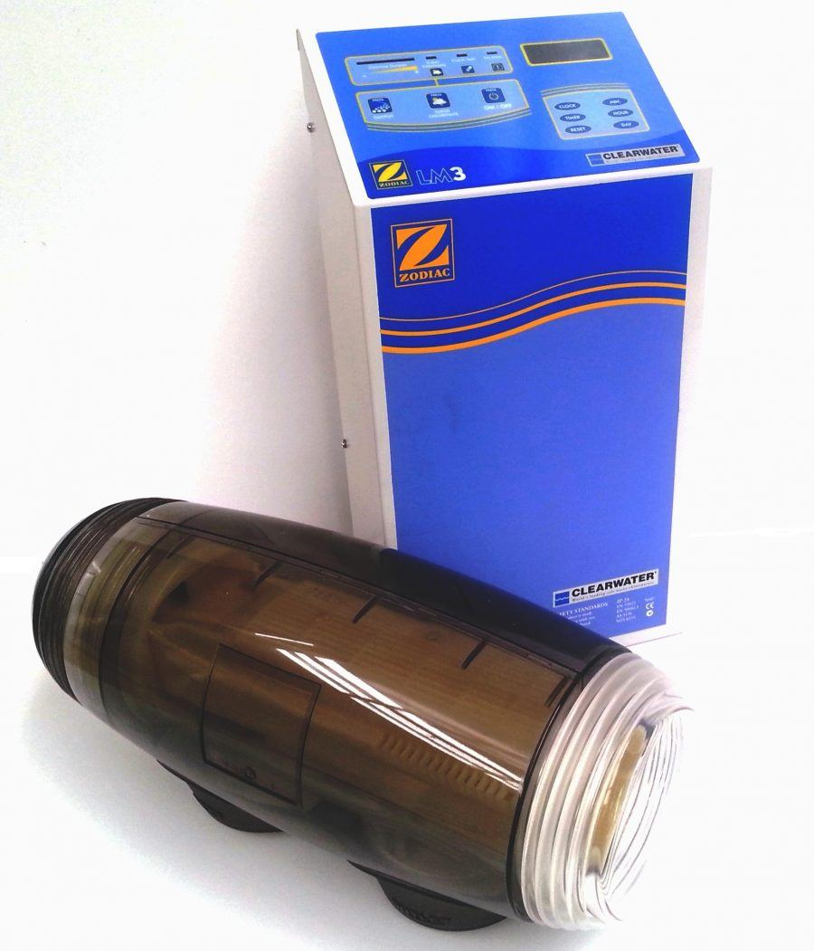 Zodiac self cleaning salt chlorinator.