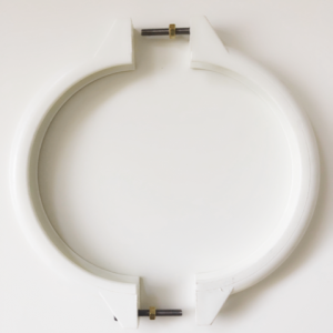 White Davey sand filter tank clamp set against a white background.