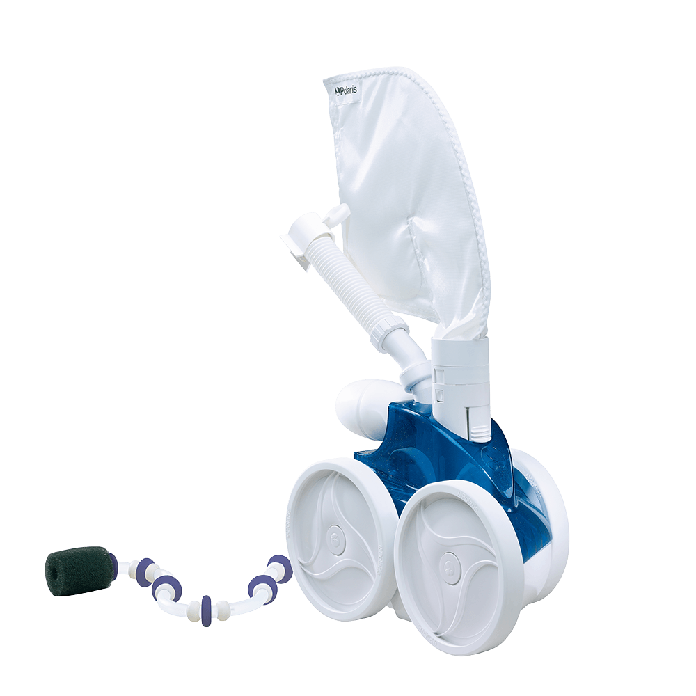 Zodiac Polaris pool pressure cleaner against a white background.