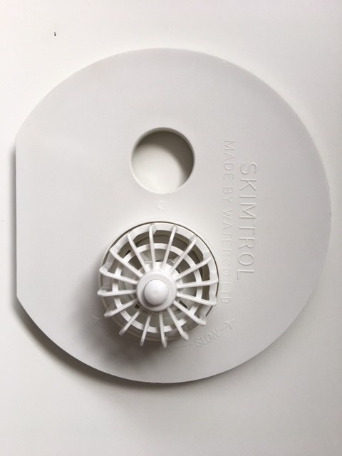 White Waterco skimmer plate against a white background.