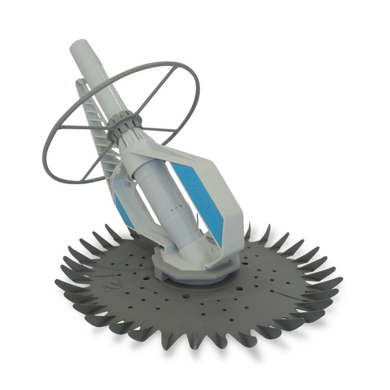 Gray Zodiac Aquashere suction pool cleaner against a white background.