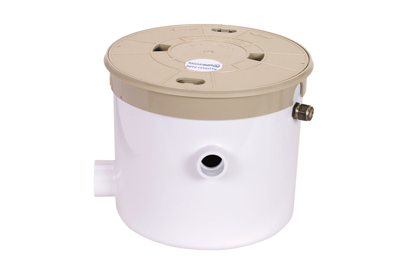 Waterco automatic water leveller against a white background.
