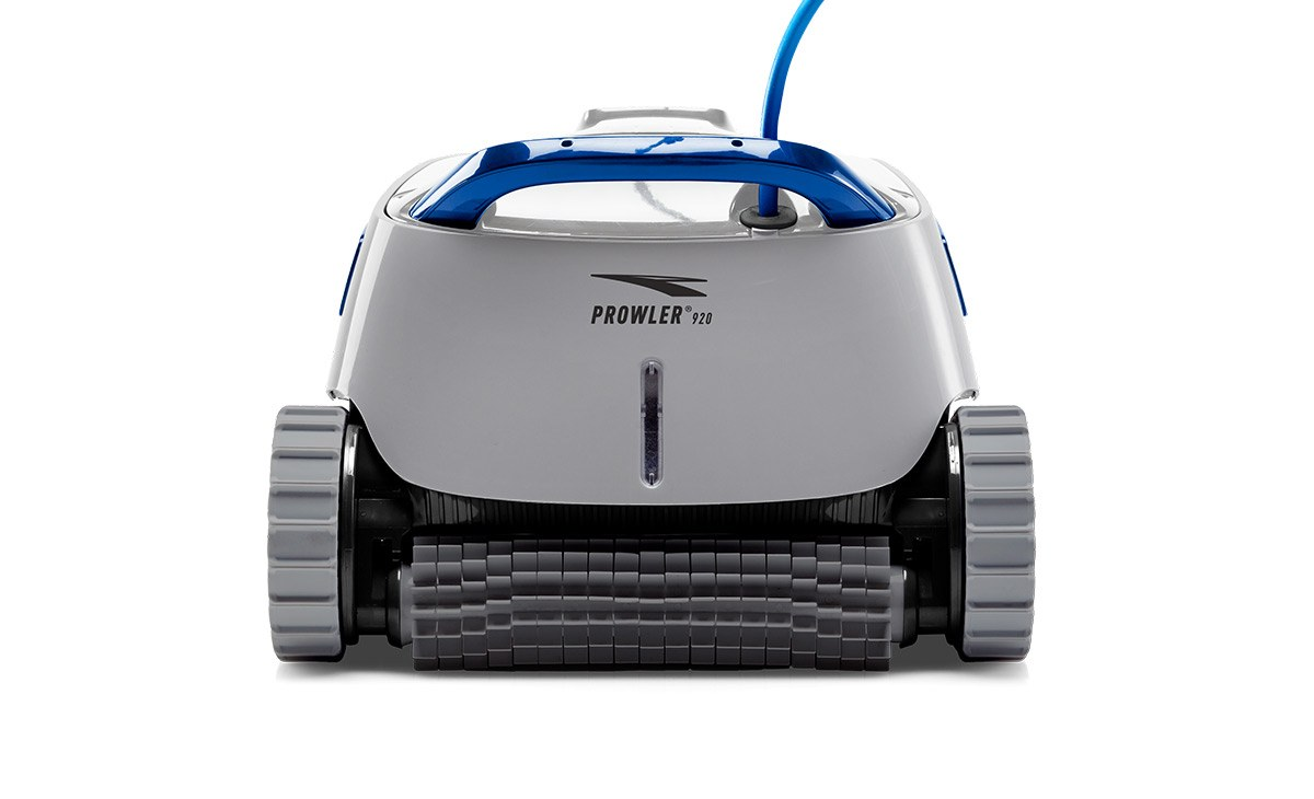 Gray Pentair Prowler 920 robotic pool cleaner against a white background.