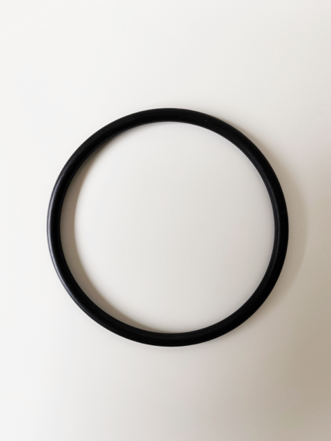Black Davey Typoon pump barrel 40mm 0ring against a white back ground.