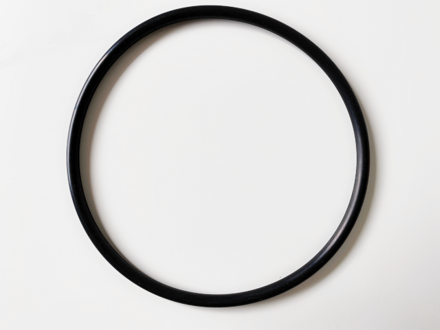 Black Davey Typoon pump barrel 50mm 0ring against a white back ground.