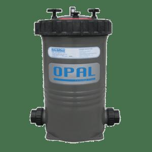 Gray Waterco Opal complete cartridge filter.